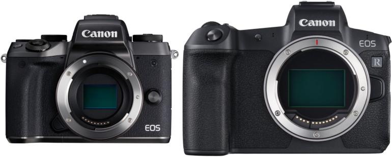Canon EOS M5 et EOS R sont totalement incompatibles