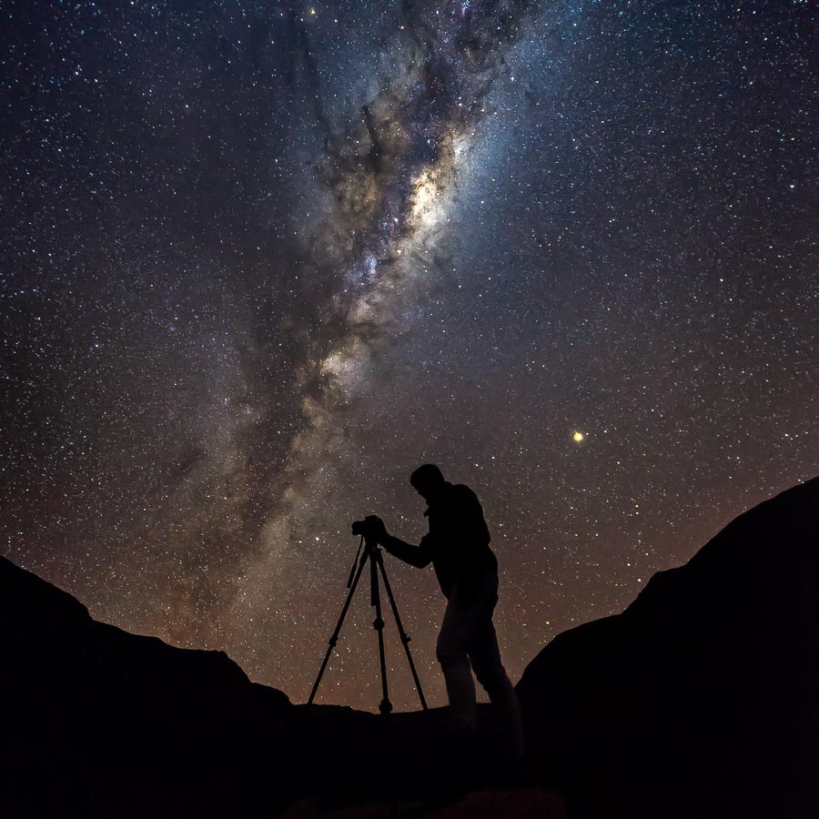 illustration photo astronomie avec trépied