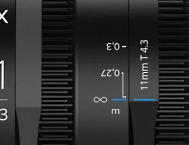 Irix 11 mm T4.3 Cine lens : ouverture.