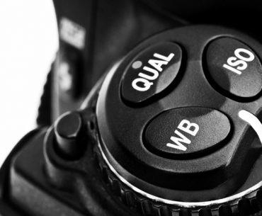 Bouton réglage sensibilité ISO