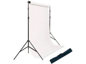 kit support de fond avec deux pieds et barre telescopique