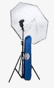 Kit strobist Lastolite avec parapluie