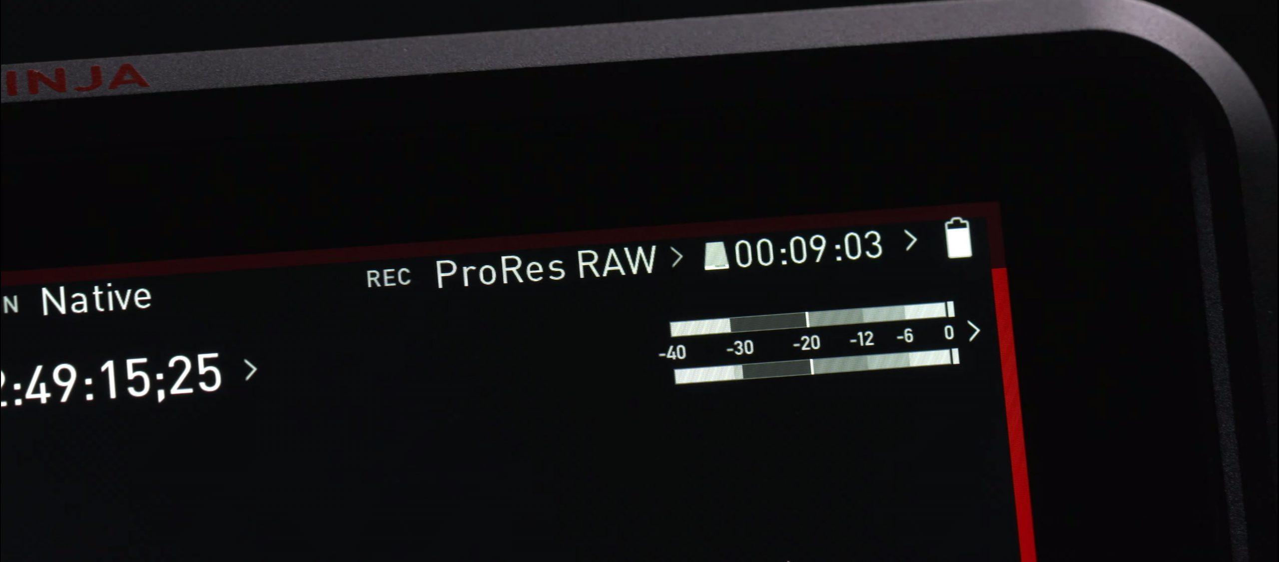 Codecs vidéo : Nikon ProRes RAW.