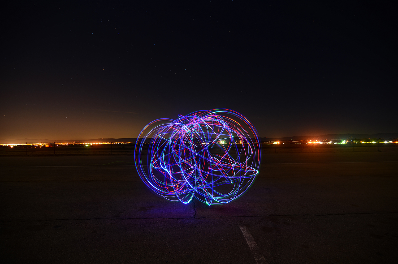 Lightpainting : exemple.