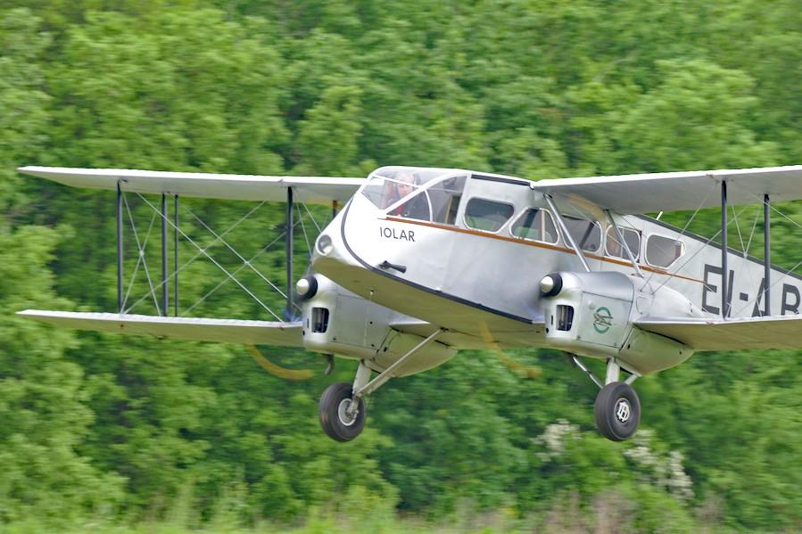 Regard du pilote d'un de Havilland Dragon