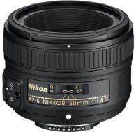 Objectif photo Nikon AF-S Nikkor 50 mm f/1,8 G (5,2 cm - 185g)