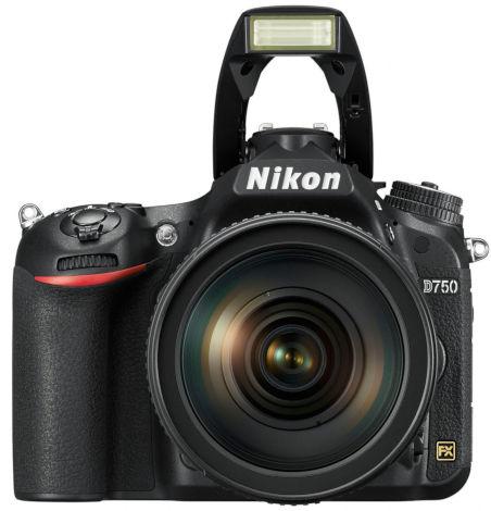 Nikon D750 vu de face