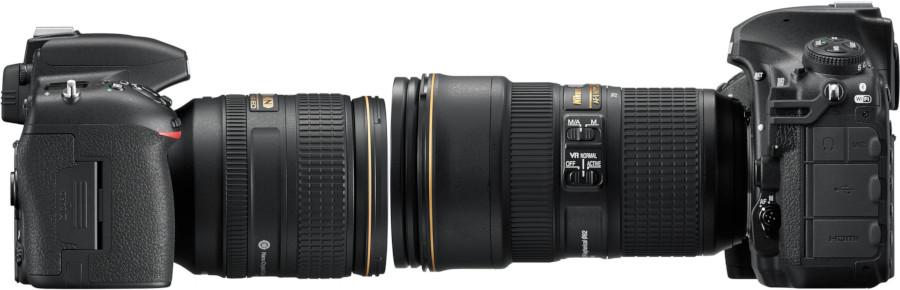 Kits D750+24-120 et D850+24-70 de profil
