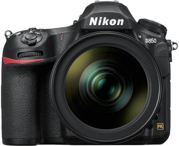 Nikon D850 vu de face