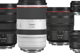 Sélection d'objectifs Canon RF