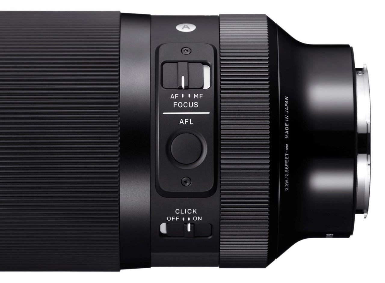 Sigma 35 mm f/1,2 DG DN Art : fonctions.