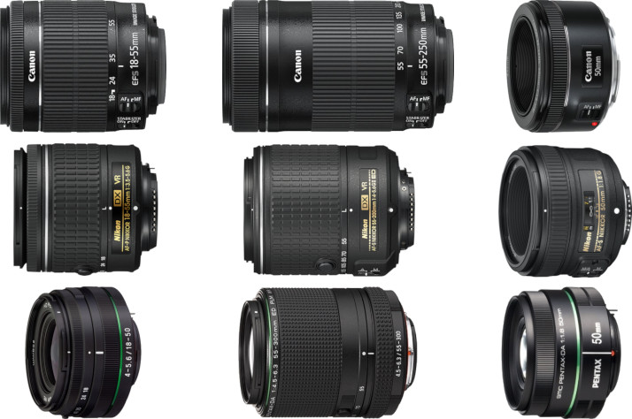 Objectifs standards Canon, Nikon et Pentax