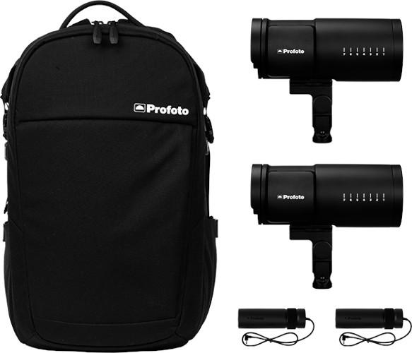 Le kit Duo, avec sac à dos fourni.