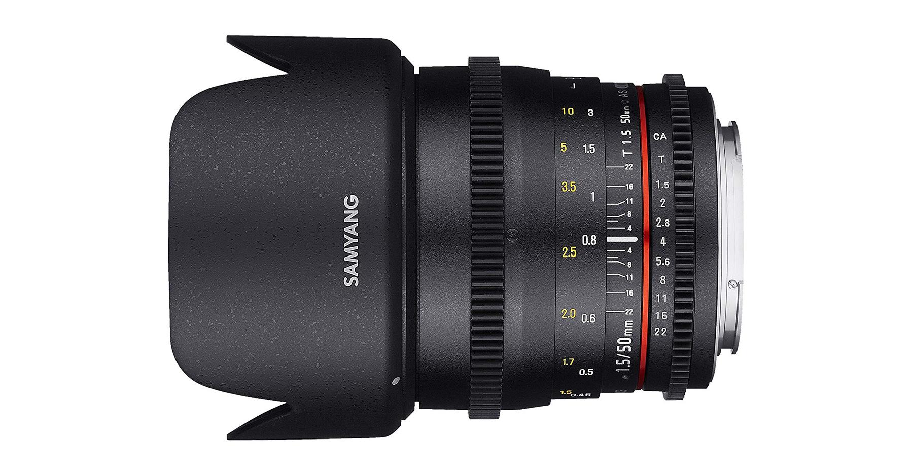 Optiques vidéo : Le Samyang 50 mm T1.5.