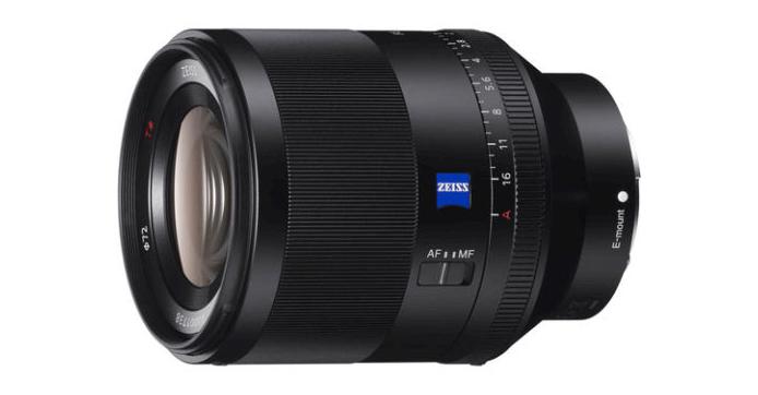 Sony Planar T* FE 50 mm f/1,4 ZA : produit.