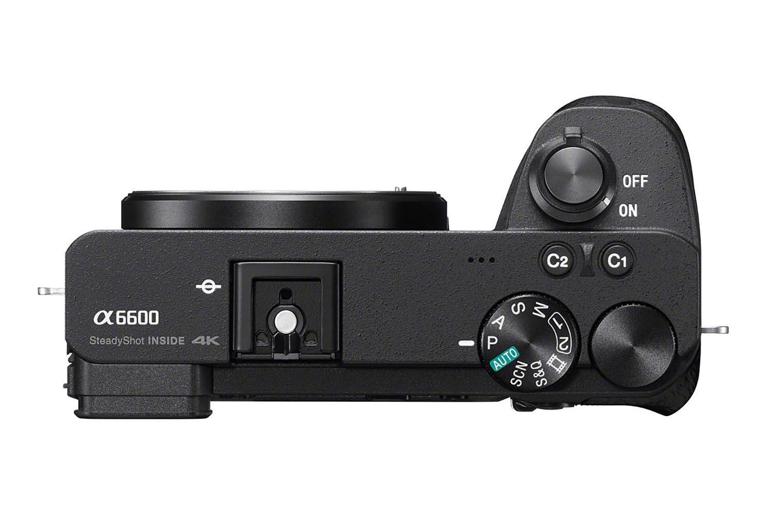 Sony A6600 : dessus.