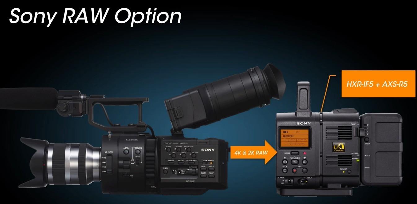 Module RAW d'une caméra Sony.