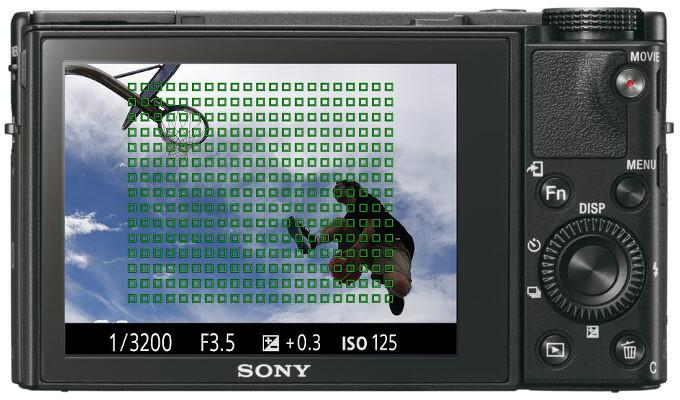 Zones d'autofocus du RX100 V