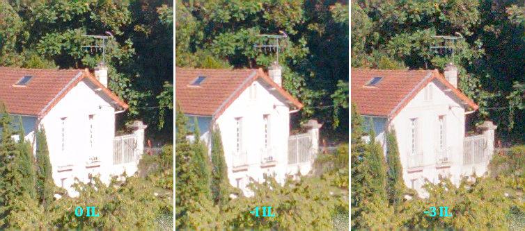 Images exposées normalement, à -1IL et -3IL