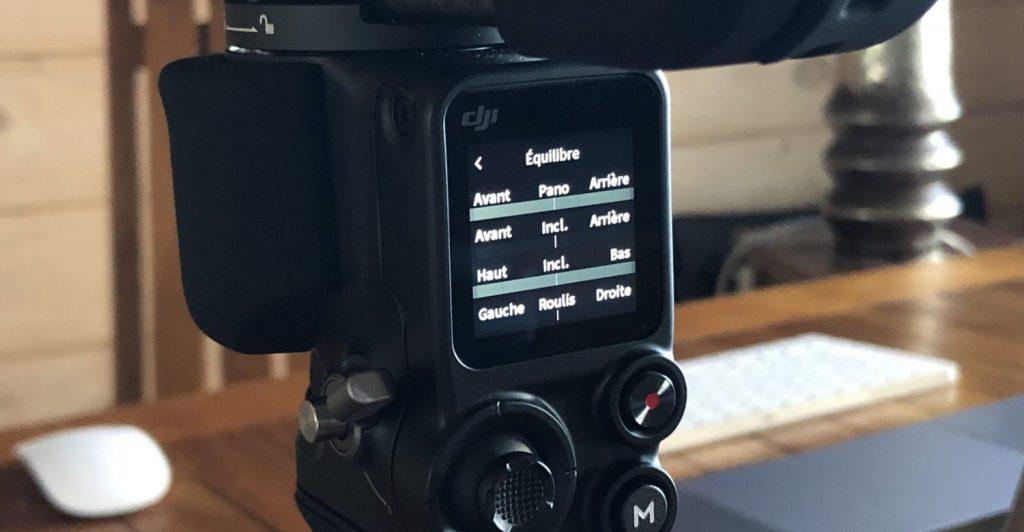 Ecran de contrôle des moteur DJI Ronin S2