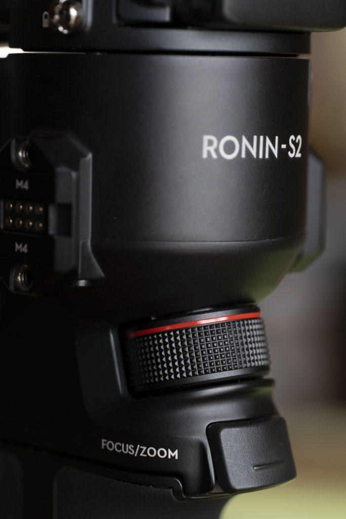 Molette de focus ou zoom du stabilisateur vidéo DJI Ronin S2