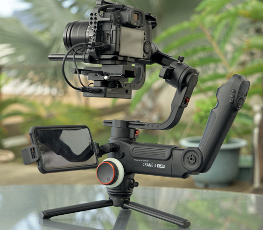 Le stabilisateur vidéo Crane 3 Lab offre la nacelle la plus importante