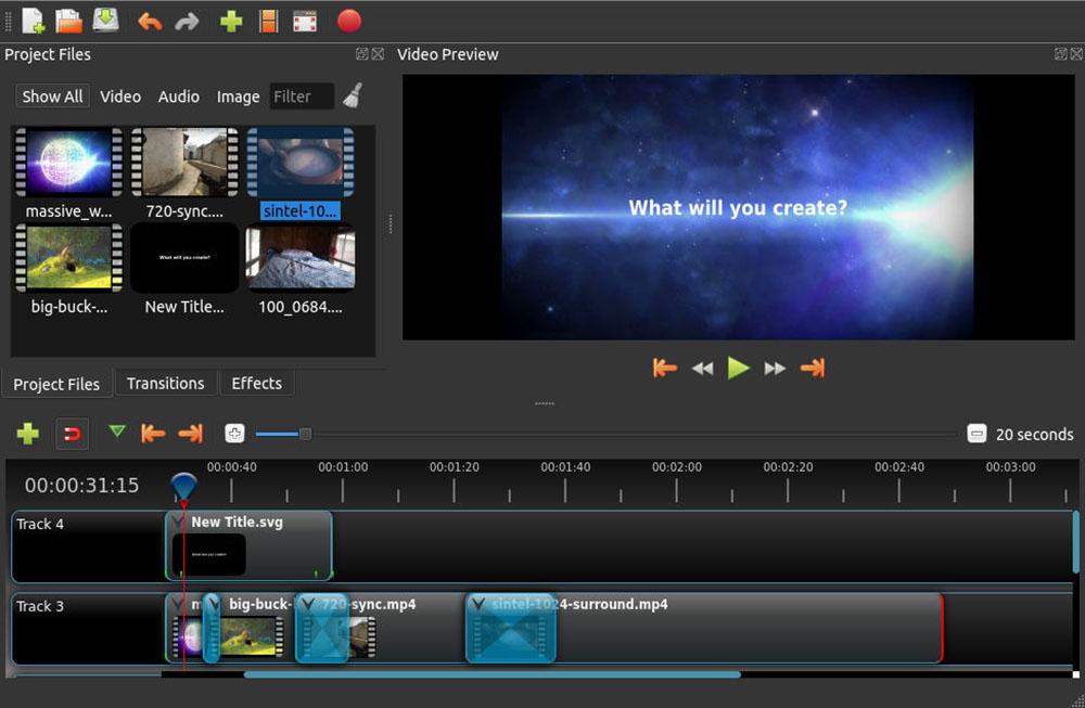 Créer facilement un time-lapse : Openshot.