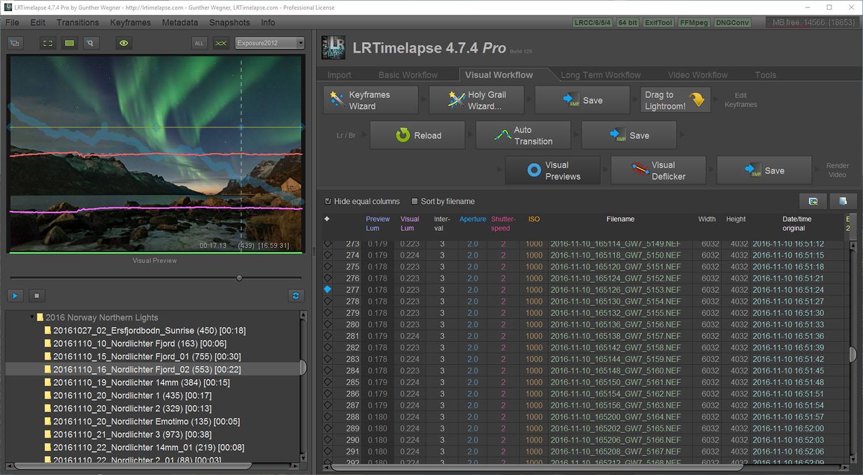 Créer facilement un time-lapse : LRTimelapse.