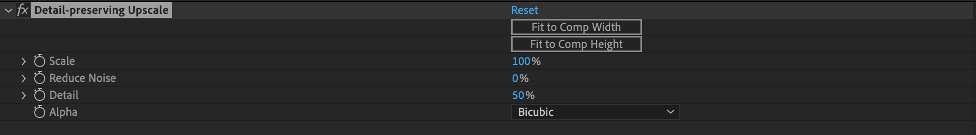 Upscaling 4K : After Effects.