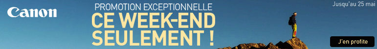 Week-end de promotions Canon