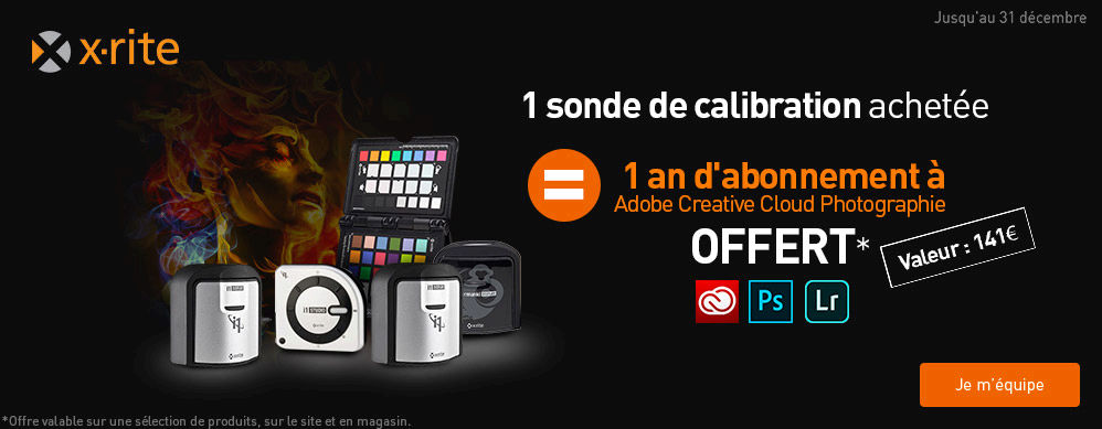 1 an d\'abonnement à Adobe Creative Cloud Photographie Offert