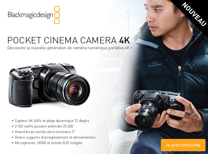 Nouvelle Pocket cinema camera 4K Blackmagic Design