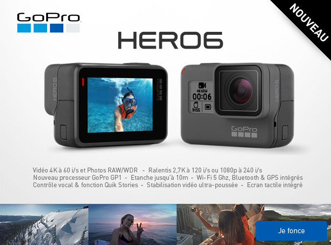 Nouvelle action cam Gopro Hero 6 Black Edition
