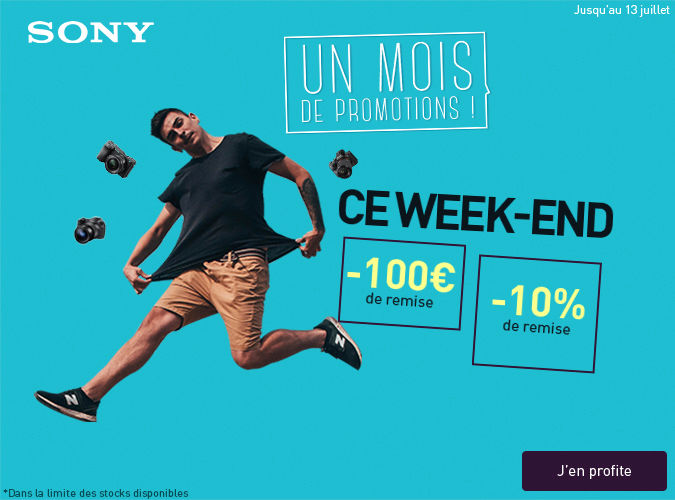 Les offres week-end Sony