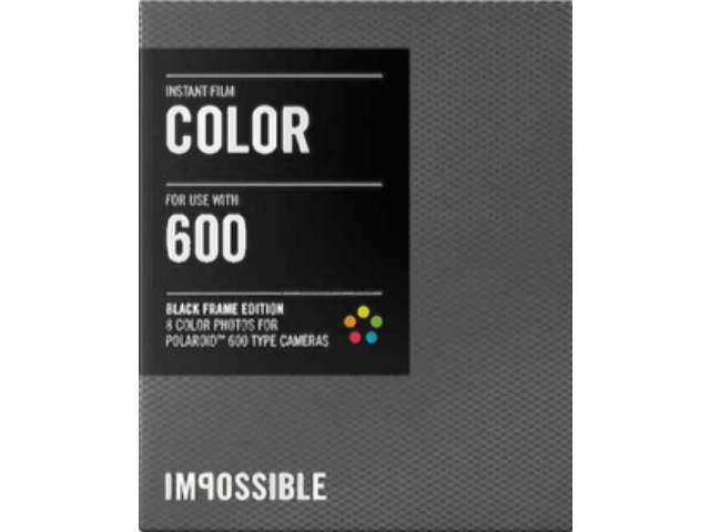 pack recharge impossible color 600 cadre noir pour polaro d 600 et instant lab. Black Bedroom Furniture Sets. Home Design Ideas