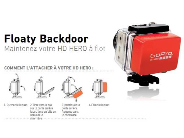 flotteur pour cam ra gopro floaty backdoor. Black Bedroom Furniture Sets. Home Design Ideas