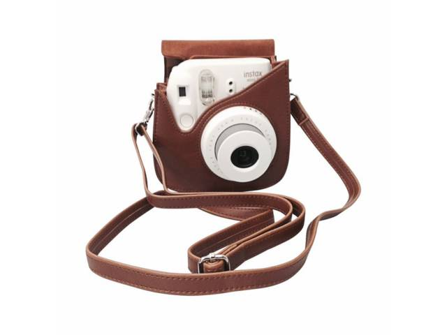 Housse fujifilm premium instax mini 8 marron for Housse instax mini