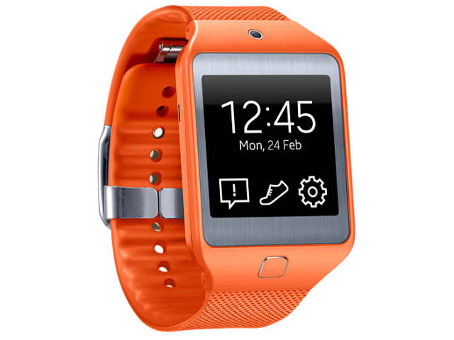 montre connect e samsung galaxy gear 2 lite orange. Black Bedroom Furniture Sets. Home Design Ideas