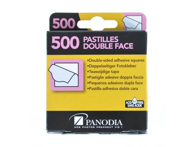 boite de 500 pastilles adh sives panodia double face. Black Bedroom Furniture Sets. Home Design Ideas