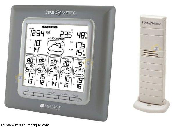 La crosse technology wd6003 coloris gris m tallis argent for Star meteo probleme temperature exterieur