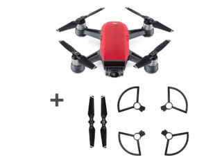 DJI drone Spark Magma rouge + kit d'hélices + protections d'hélices