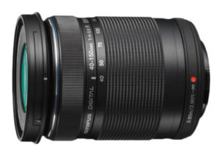 OLYMPUS 40-150 mm f/4.0-5.6 ED Zuiko digital EZ-M4015 R noir objectif photo