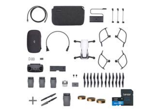 DJI Mavic Air Fly More Combo blanc + 1 x paire d'hélices + batterie + kit de 3 filtres + carte micro SD 32Go