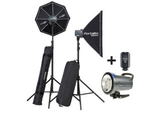 Elinchrom kit flash de studio D-Lite RX 4 Box + torche flash D-Lite RX 4 avec trépied