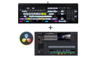LogicKeyboard Pack PC clavier de montage LogicKeyboard DaVinci Resolve v16 pour PC + 1 accessoire