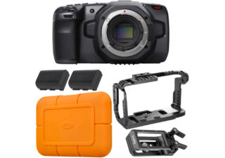 Blackmagic Design Pocket Cinema Camera 6K - Pack Movie avec disque dur Lacie Rugged SSD USB-C 1To