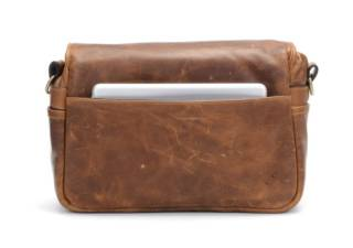 ONA sac photo en cuir Bowery Antique Cognac