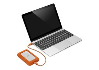 LACIE disque dur externe Rugged USB-C 2 To