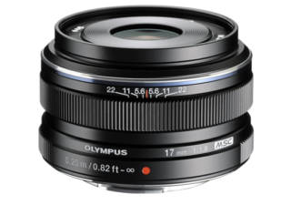 OLYMPUS 17 mm f/1.8 objectif photo Zuiko digital noir