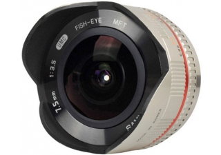 SAMYANG 7.5 mm f/3.5 UMC silver monture Micro 4/3 objectif photo fisheye